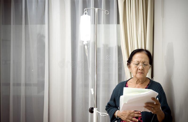 年长住院病人病残病区 库存照片