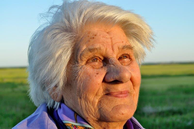 年长纵向妇女 图库摄影
