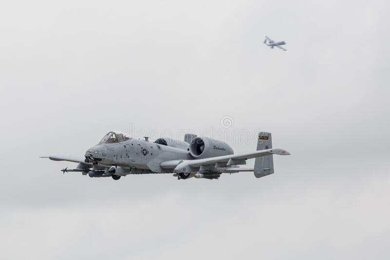 "2019年韦恩堡航展A-10 Thunderbolt II ""Warthog"" 免版税库存图片"