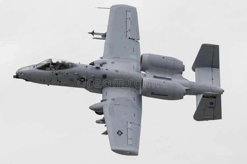 "2019年韦恩堡航展A-10 Thunderbolt II ""Warthog"" 库存图片"