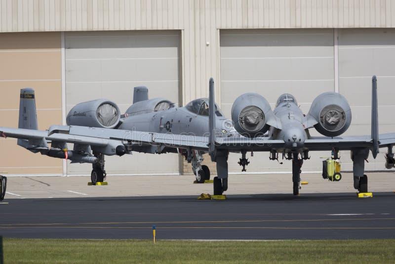 "2019年韦恩堡航展A-10 Thunderbolt II ""Warthog"" 库存照片"