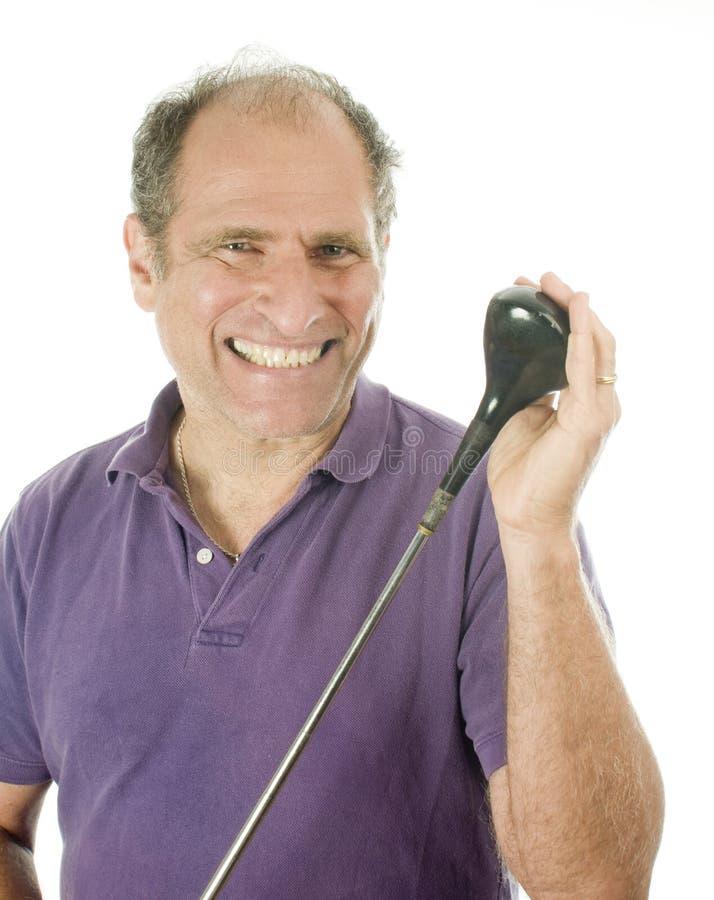 年龄俱乐部高尔夫球人中间名木头 免版税库存图片