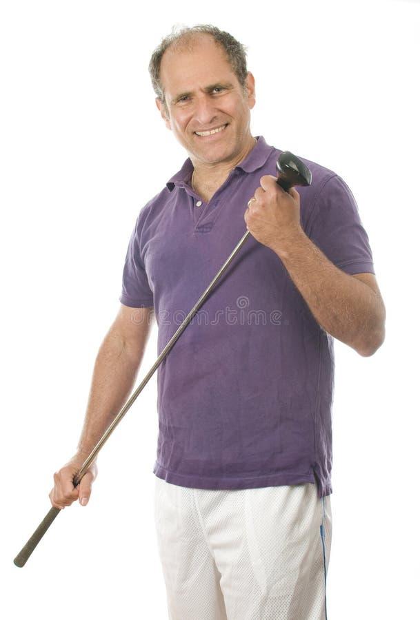 年龄俱乐部高尔夫球运动员人中间名&# 库存图片