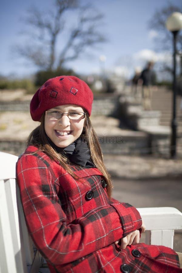 年龄女孩公园正学校 库存照片