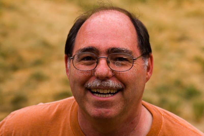 年龄成为秃头的人中间名 免版税库存照片