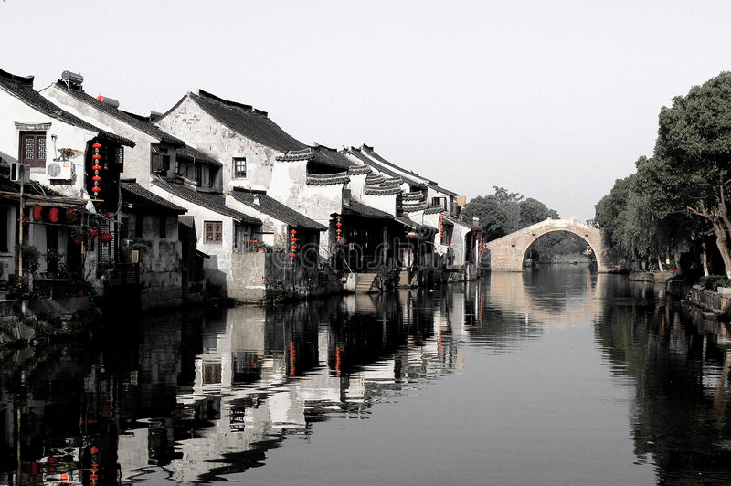 年龄瓷老城镇xitang 免版税库存照片