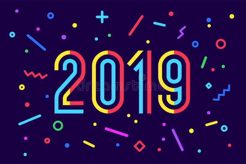 2019年,新年快乐 贺卡新年快乐2019年