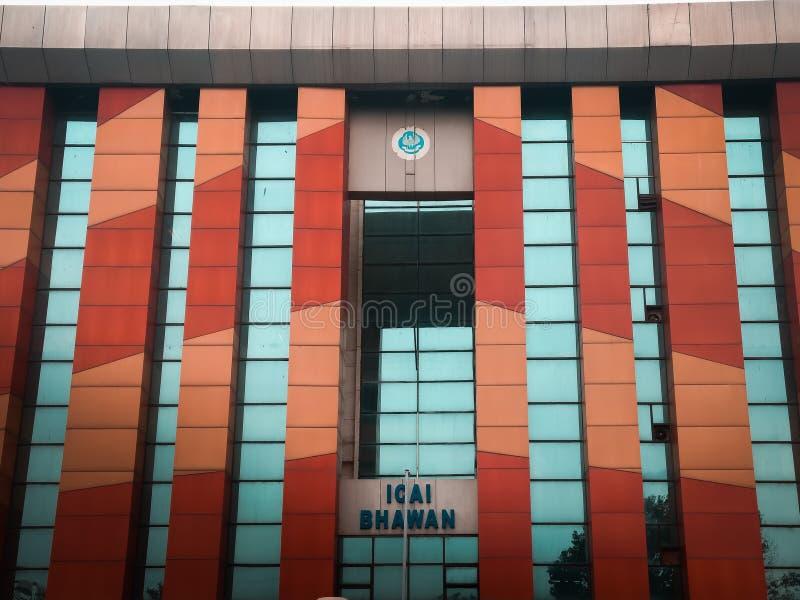 E 2019年:印度,shahdara的注册会计师学院 免版税库存照片