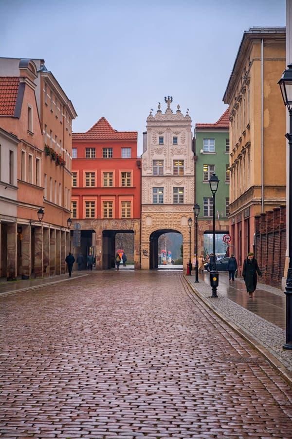 2017年 10 20托伦波兰,老集市广场在托伦 托伦是最旧的城市在波兰,天文学家Nicolaus的出生地 免版税库存照片