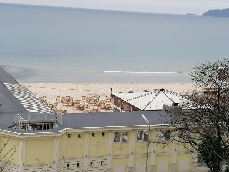 2020年3月保加利亚黑海空滩 库存照片