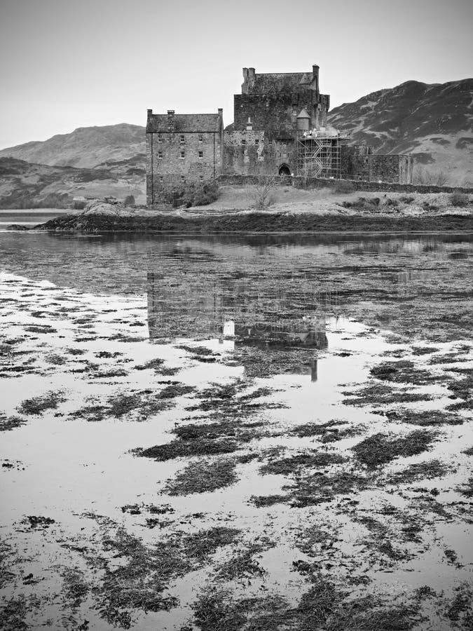 2017年2月第7,斯凯岛,苏格兰- Eilan Donan城堡小岛  库存图片