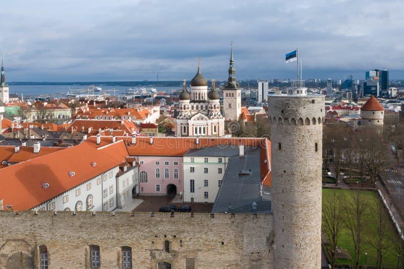 2020年2月,爱沙尼亚塔林:Pikk Hermann, Riigikogu,国民议会,Toompea,塔林,爱沙尼亚 库存照片