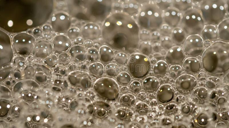 2020年2月1日南澳阿德莱德家洗涤剂气泡特写 免版税库存照片