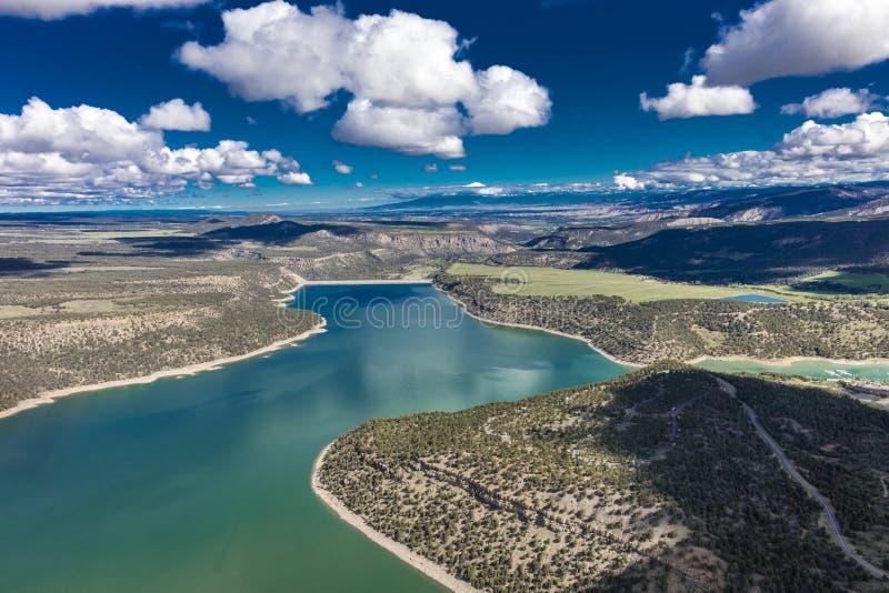 2017年4月27日里奇韦科罗拉多-里奇韦国家公园天线和水库,里奇韦科罗拉多 水库,克利特 免版税库存照片