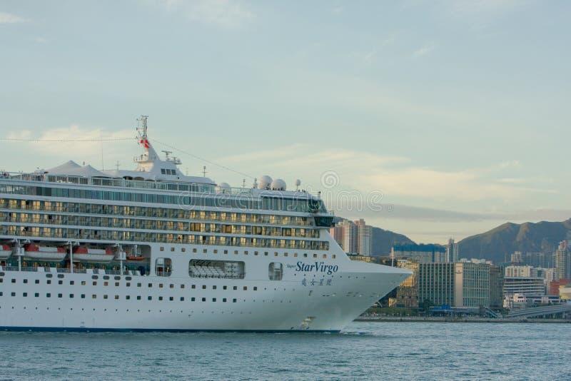 2008年8月23日香港港时号邮轮 免版税库存照片
