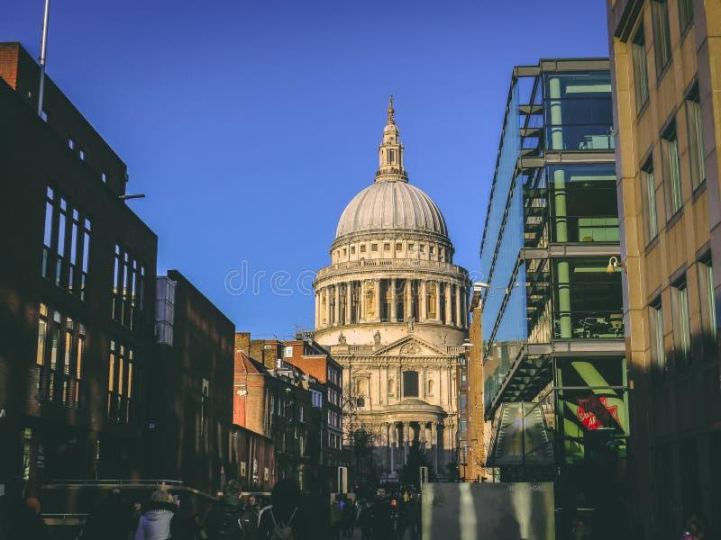 2017年12月28日,伦敦,英国-圣保罗` s大教堂 免版税库存图片