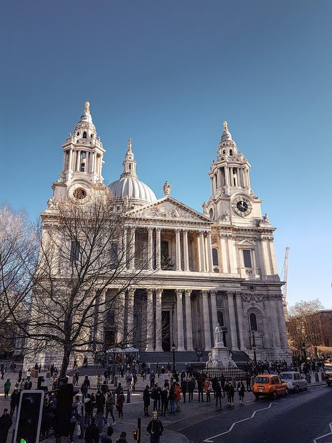 2017年12月28日,伦敦,英国-圣保罗` s大教堂 图库摄影