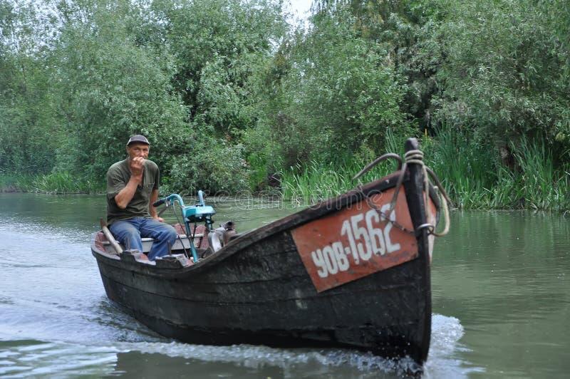 旅游镇维尔科沃是水的一个城市 多瑙河的银行的城市 2011年6月10日,傲德萨地区 免版税库存照片