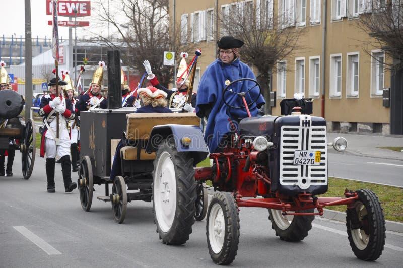 2013年2月11日,德国 德国狂欢节,罗森蒙塔格英语:罗斯星期一在什罗夫星期一之后举行 免版税库存照片