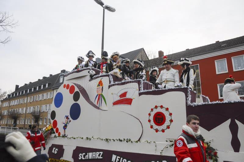 2013年2月11日,德国 德国狂欢节,罗森蒙塔格英语:罗斯星期一在什罗夫星期一之后举行 库存照片