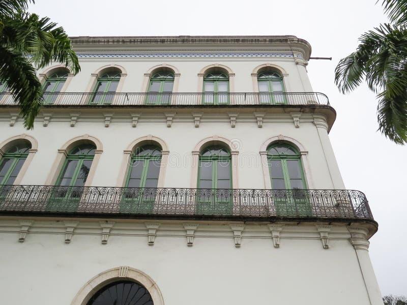 2018年7月22日,桑托斯, São保罗,巴西, Valongo豪宅在历史的中心,当前贝利博物馆 免版税库存图片
