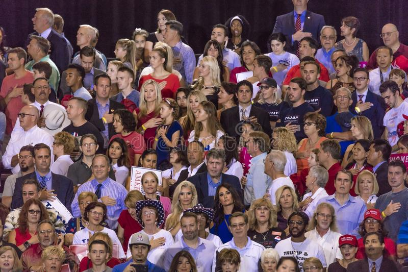 2017年8月22日,菲尼斯, AZ U S 忠诚承诺唐纳德J总统的 在的王牌 政府,大人 库存照片