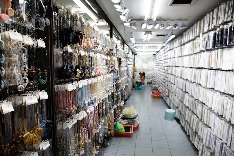 2018年11月20日,-曼谷泰国-金银手饰店在曼谷 库存照片