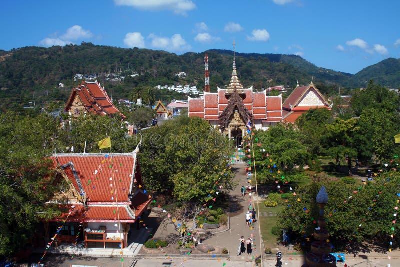 2019年2月13日,Wat查龙,普吉岛,泰国 库存图片