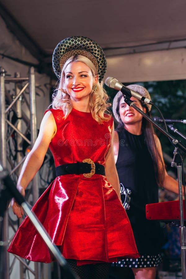 2019年2月16日:凯特·米勒 — 海德克在费瑟托普酒厂的首场演唱会 图库摄影