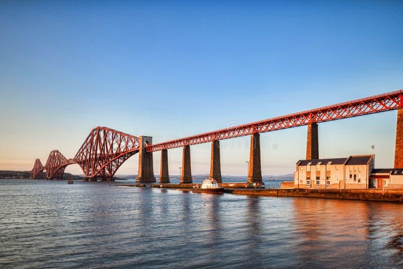 路轨桥梁苏格兰 免版税库存图片