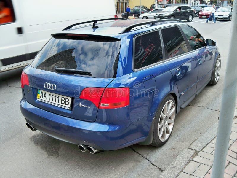 2010年8月25日 乌克兰-基辅 avant的奥迪RS4 免版税图库摄影