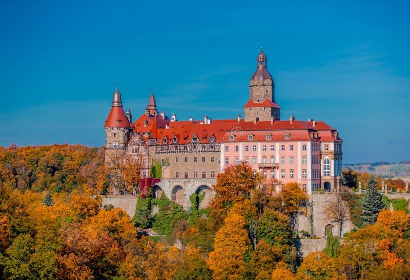 2017年10月15日-城堡Ksiaz,波兰 图库摄影