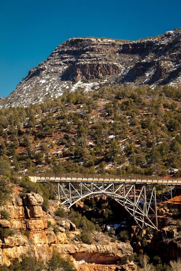 2019年2月26日-塞多纳,AZ,美国-米奇利桥梁,塞多纳,雪的亚利桑那 免版税库存图片