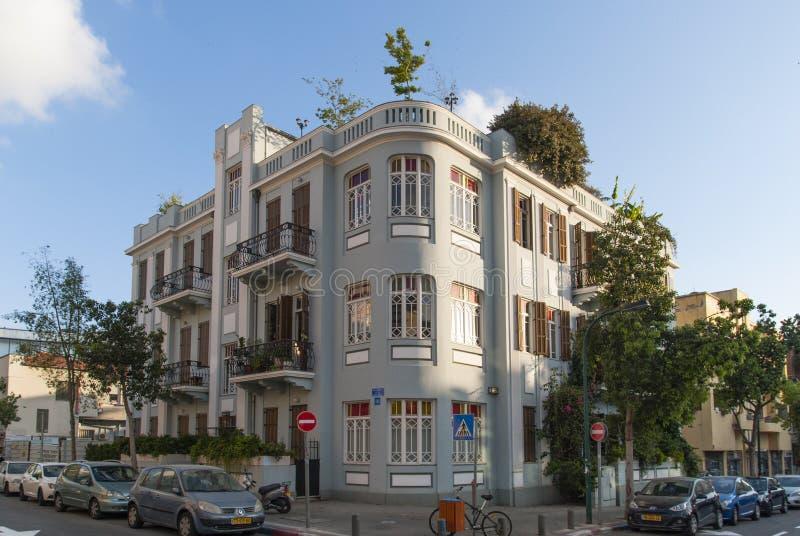 2017年5月23日 美丽的老被更新的房子在特拉维夫 以色列 库存图片