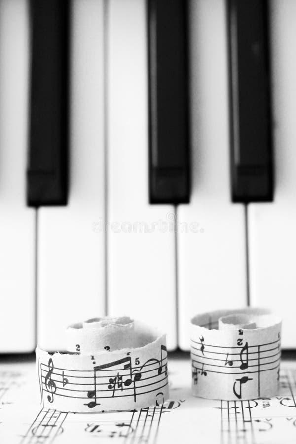 2018年3月28日 Izhevsk,俄国 音符,钢琴 免版税库存图片