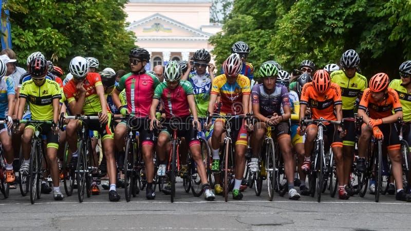 2019年8月3日 Pervomaisk市,尼高拉夫地区,乌克兰 在双和标准种族的乌克兰循环的冠军 免版税库存照片