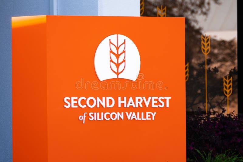 2020年2月27日San Jose / CA / USA - Second Harvest of Silicon Valley facilies, Feeding America的一部分,美国 免版税图库摄影