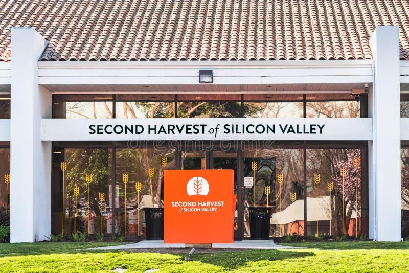 2020年2月27日San Jose / CA / USA - Second Harvest of Silicon Valley facilies, Feeding America的一部分,美国 免版税库存图片