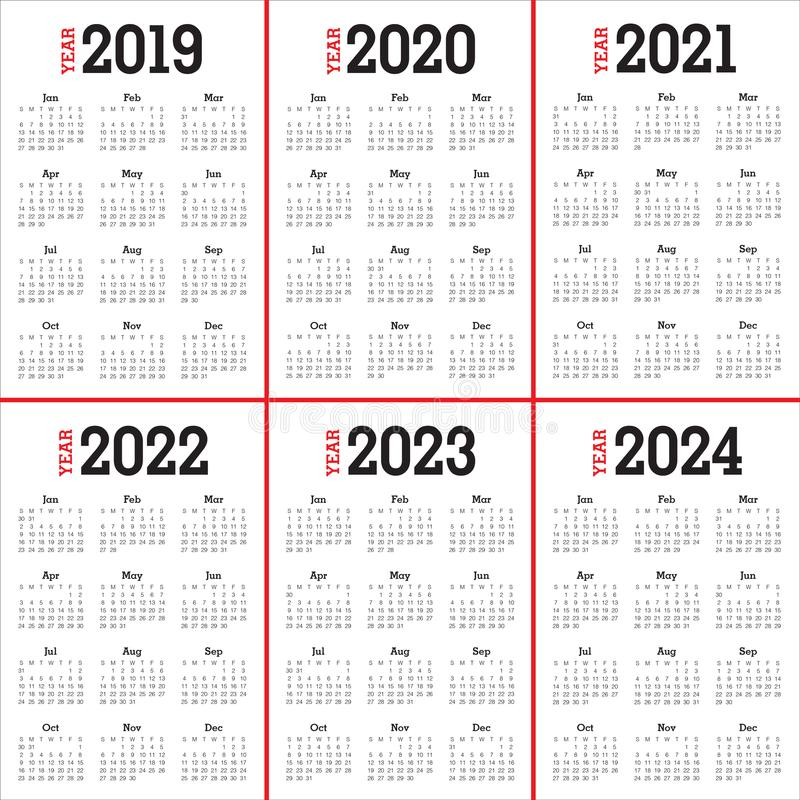 年2019 2020 2021 2022 2023 2024本日历传染媒介设计