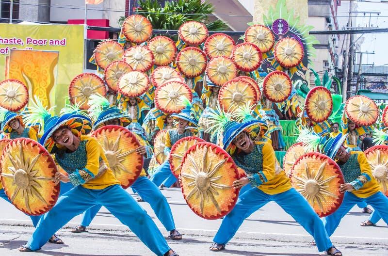 2018年Dinagyang节日 免版税库存图片