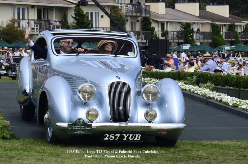 1938年Talbot-Lago T23 Figoni & FalaschiFaux敞蓬车 库存图片