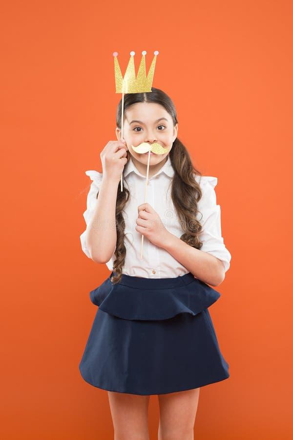 幸福和喜悦概念 : r 优越公主 照片摊支柱 ?? 免版税图库摄影