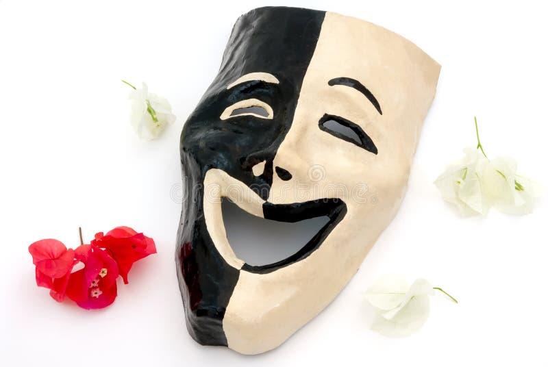 幸福面具(自然耍笑版本) 库存照片