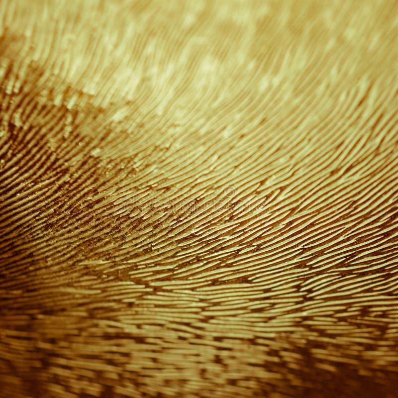 幻想世界概念:五颜六色的波浪压印的玻璃表面纹理的宏观图象 免版税库存照片