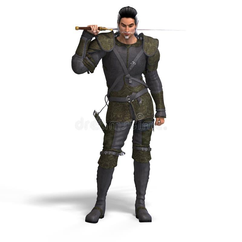幻想凶恶剑 向量例证