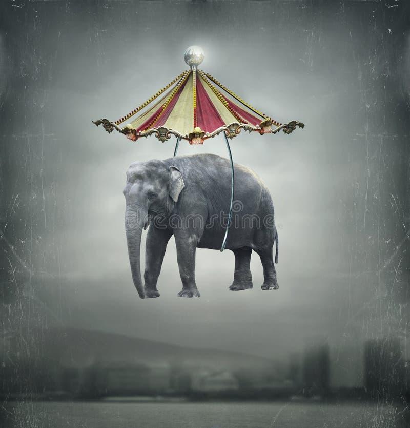 幻想大象 向量例证