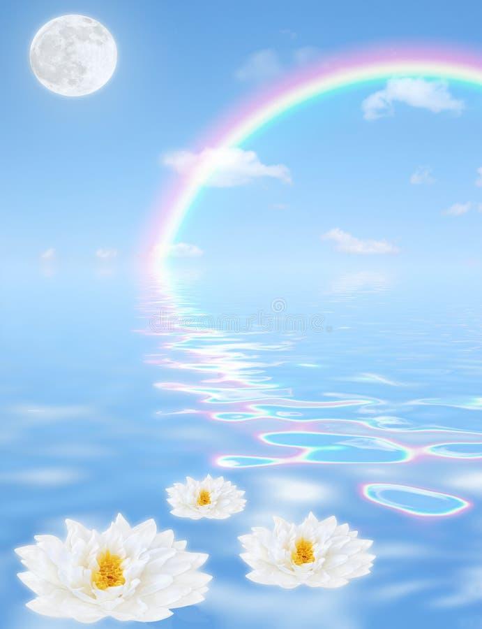 幻想天堂般的彩虹 库存例证