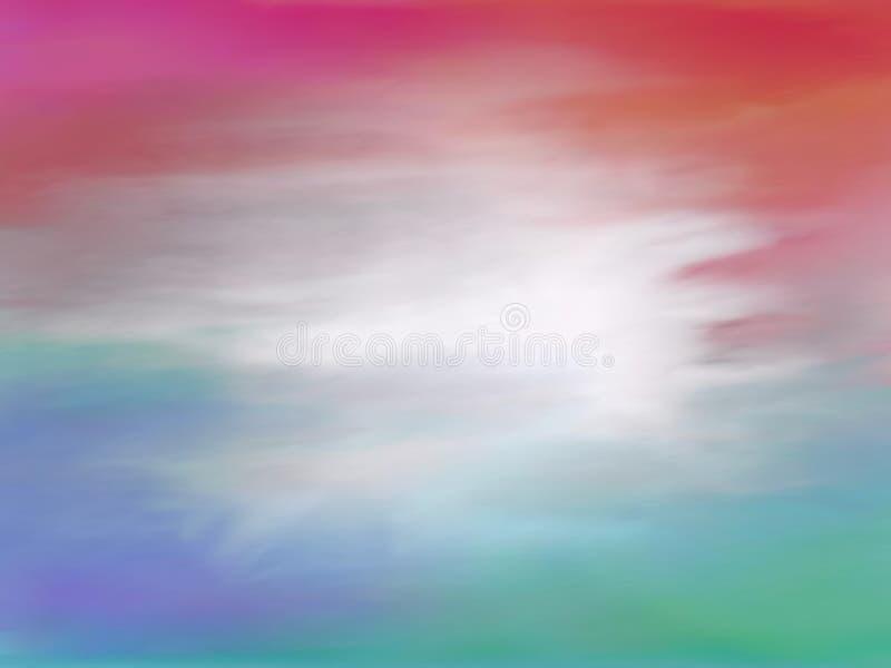 幻想天空 向量例证