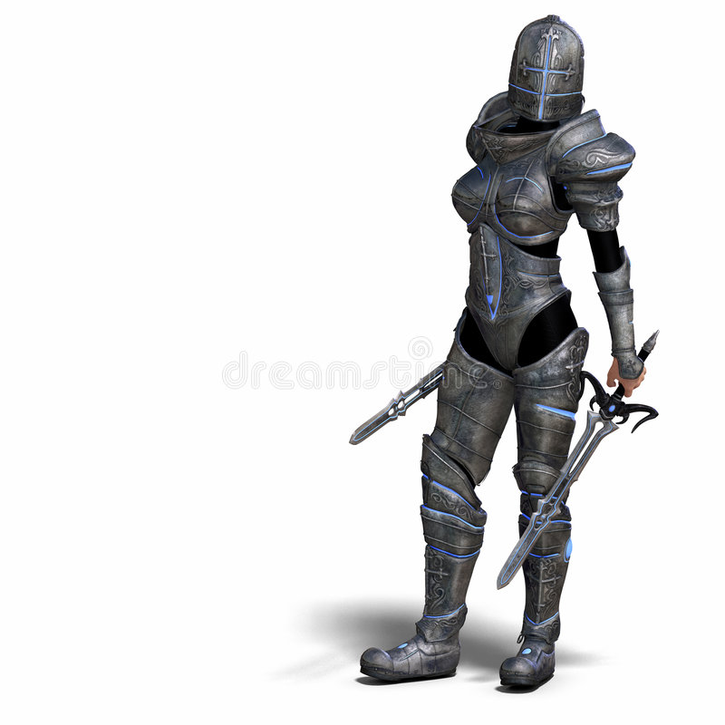 幻想女性骑士 皇族释放例证