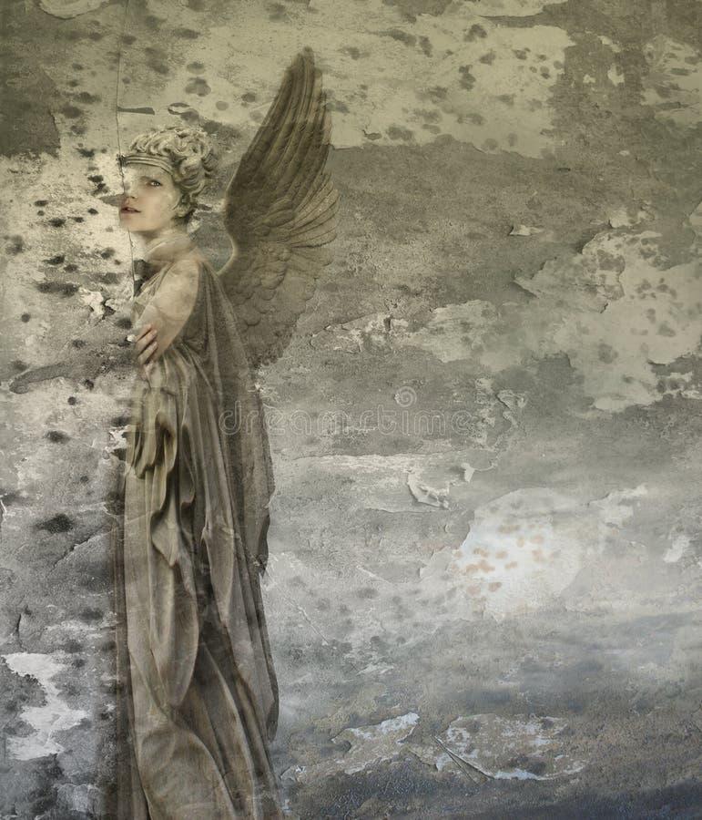 幻想妇女天使 库存例证